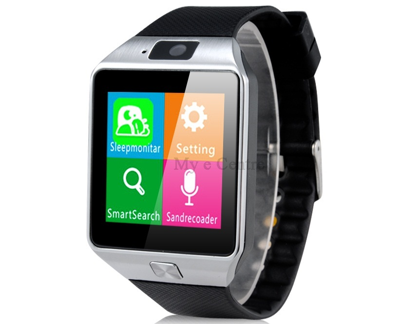 Jual Smart Watch Phone with Sleeping Monitoring, Anti Lost, Remote Camera and SIM Card Slot(Black)