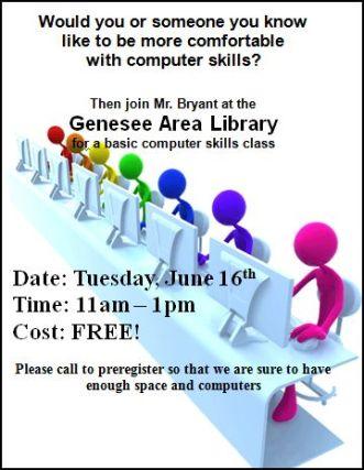 6-16 Genesee Library Computer Skills