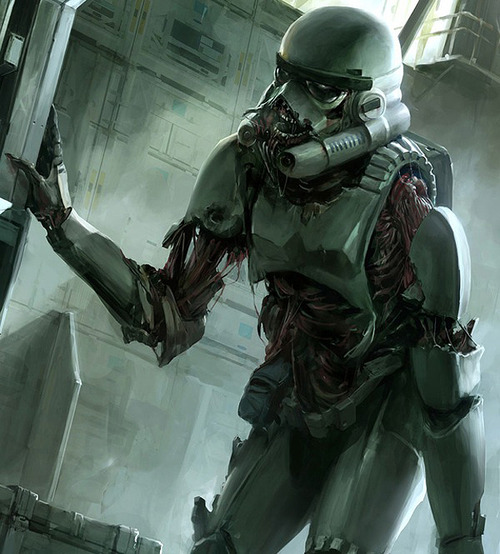 Un Stormtrooper zombie ¡horror!