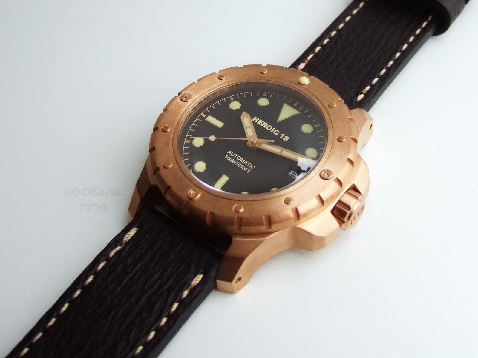 Heroic18 bronze diver n 82 - Bronze dive watch ...