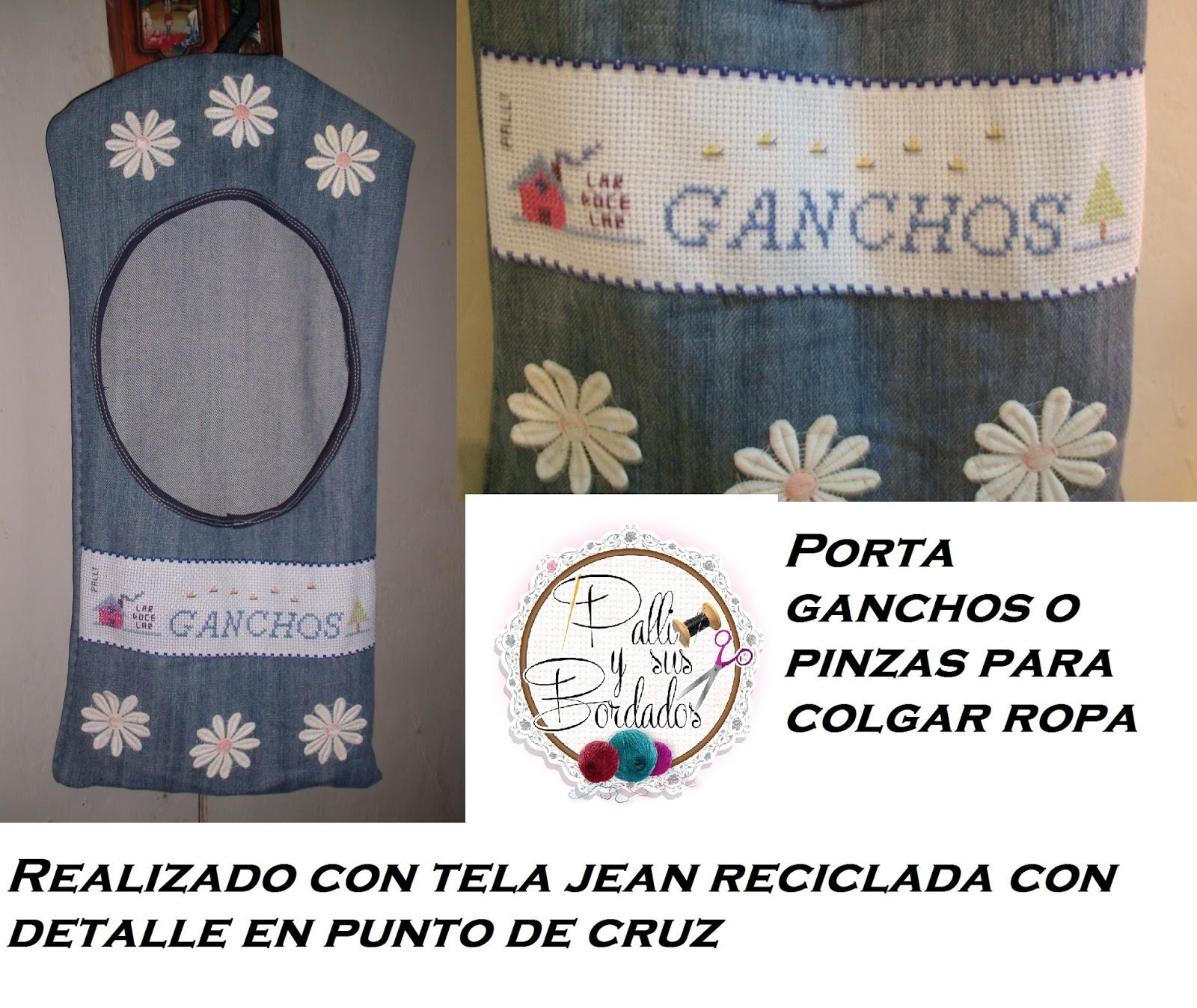 Palli y sus bordados nueva p gina porta ganchos o pinzas for Porta ganchos de ropa