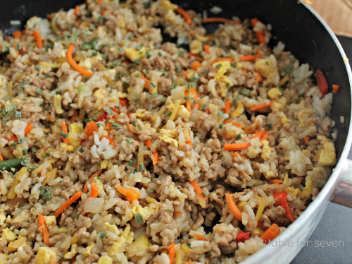 Recipe using ground pork and rice