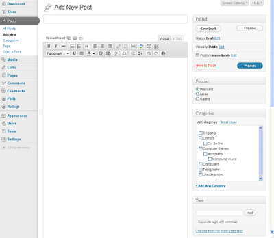 WordPress Add New Post Page