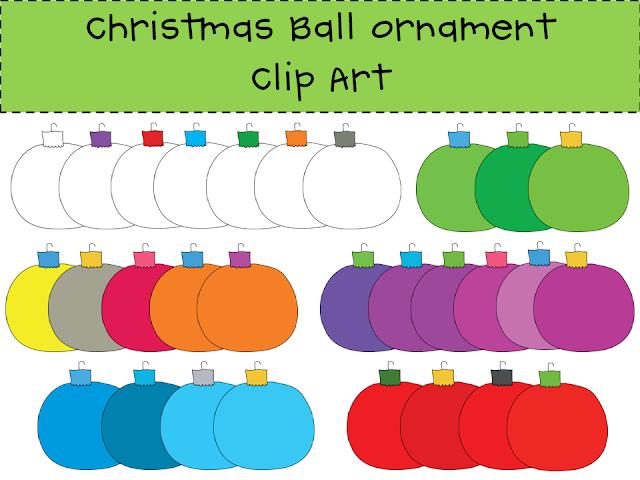 http://www.teacherspayteachers.com/Product/Christmas-Ball-Ornament-Clip-Art-Set-408386