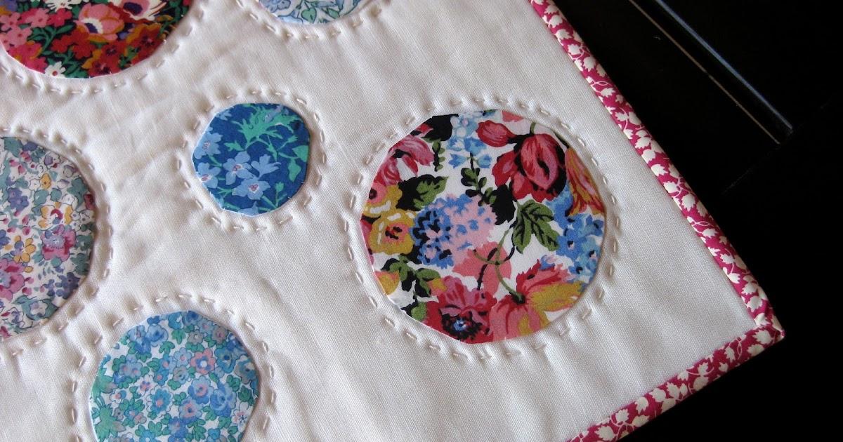 pieceful life: finished liberty circle mini quilt