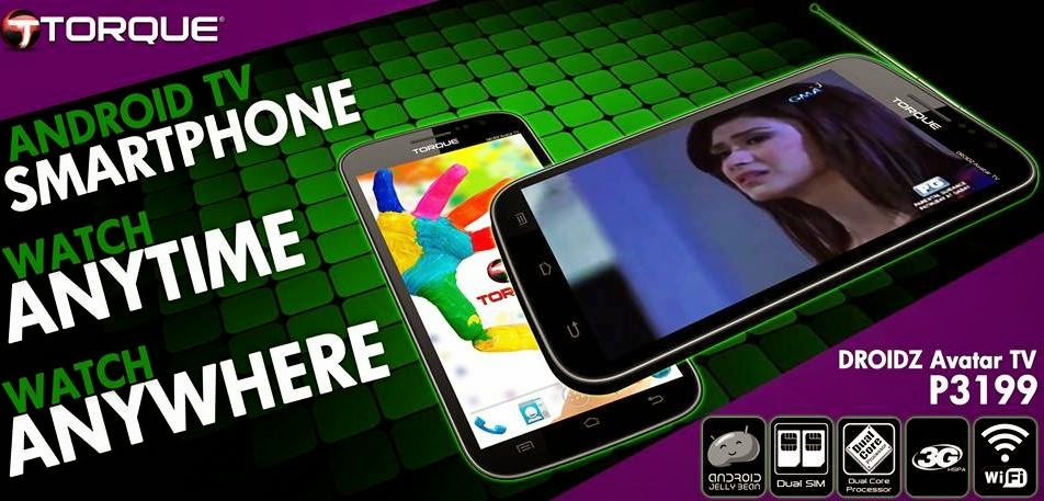Torque Droidz Avatar TV, 5-inch Dual Core Android Phablet For Php3,199