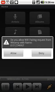 Sincronizar Winamp con Android