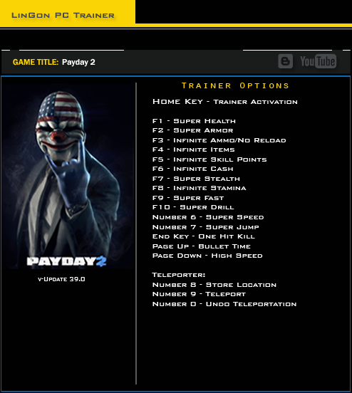 Payday 2 trainergames