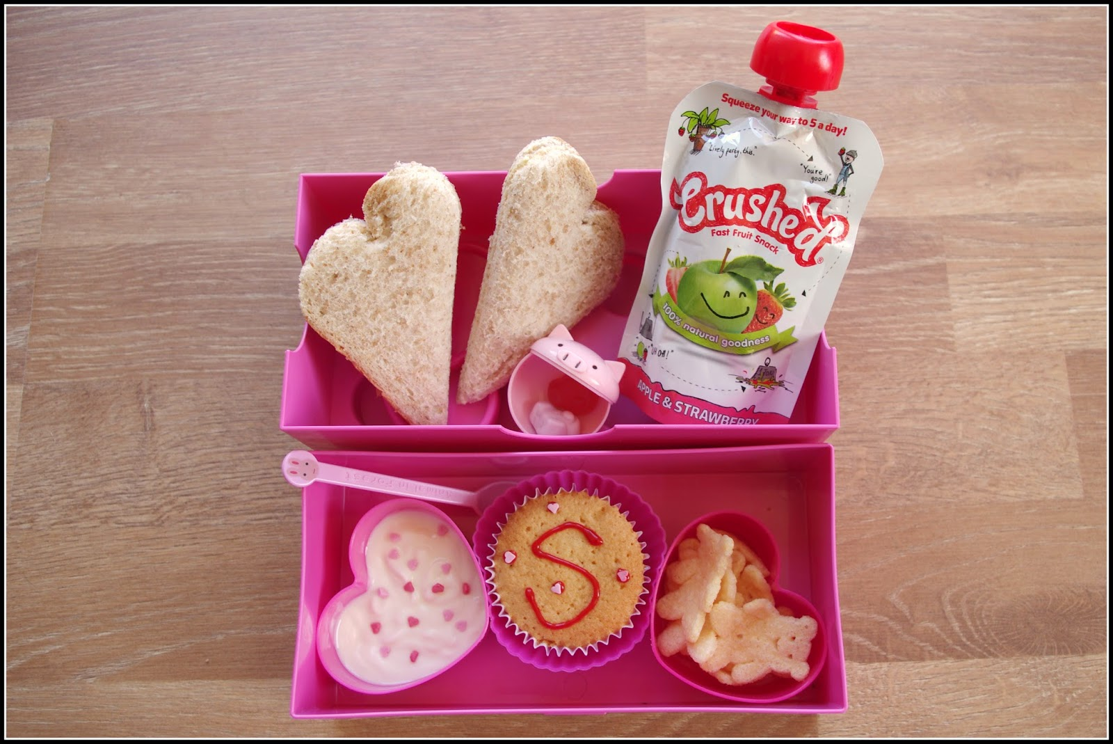 A heart shaped Bento lunchbox