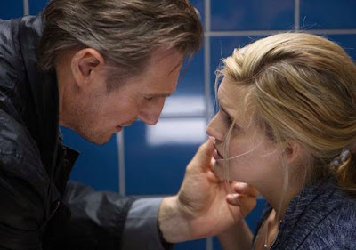 Liam Neeson and Maggie Grace in Taken 3