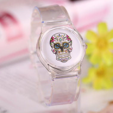 Simply Sugar Skull Jelly Watch