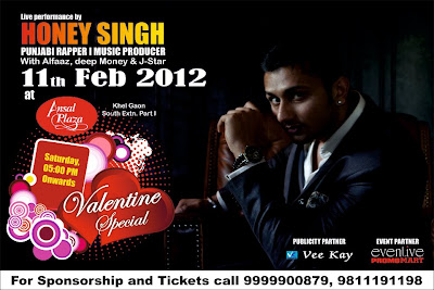 Honey Singh Delhi at Ansal Plaza, Khel Gaon on 11th February, 2012.