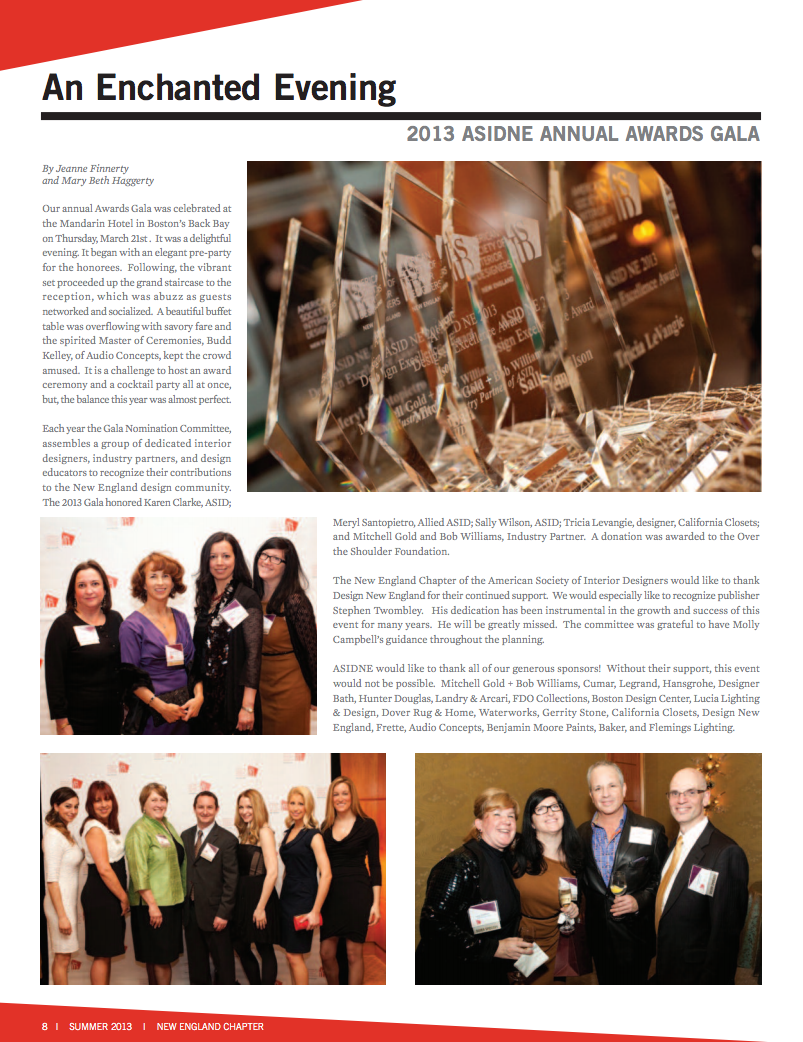 ASID New England Newsletter Summer 2013