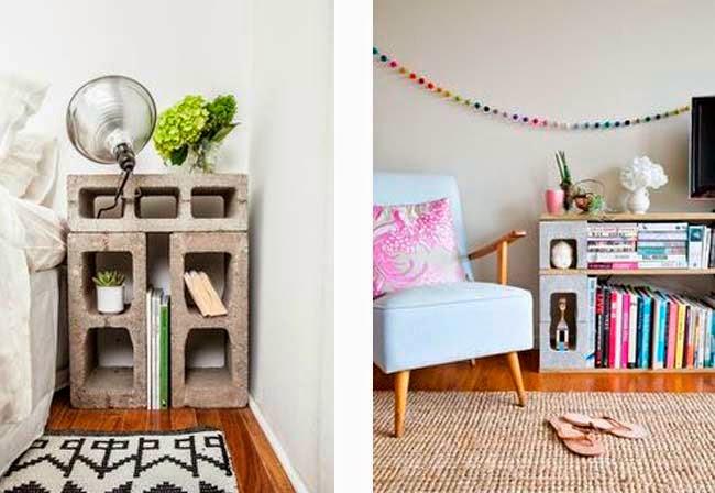 reciclaje de bloquetas muebles y decoracion reciclada