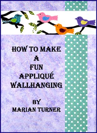 My second eBook - How to Make a Fun Applique Wallhanging