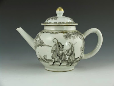 China trade teapot 18th C