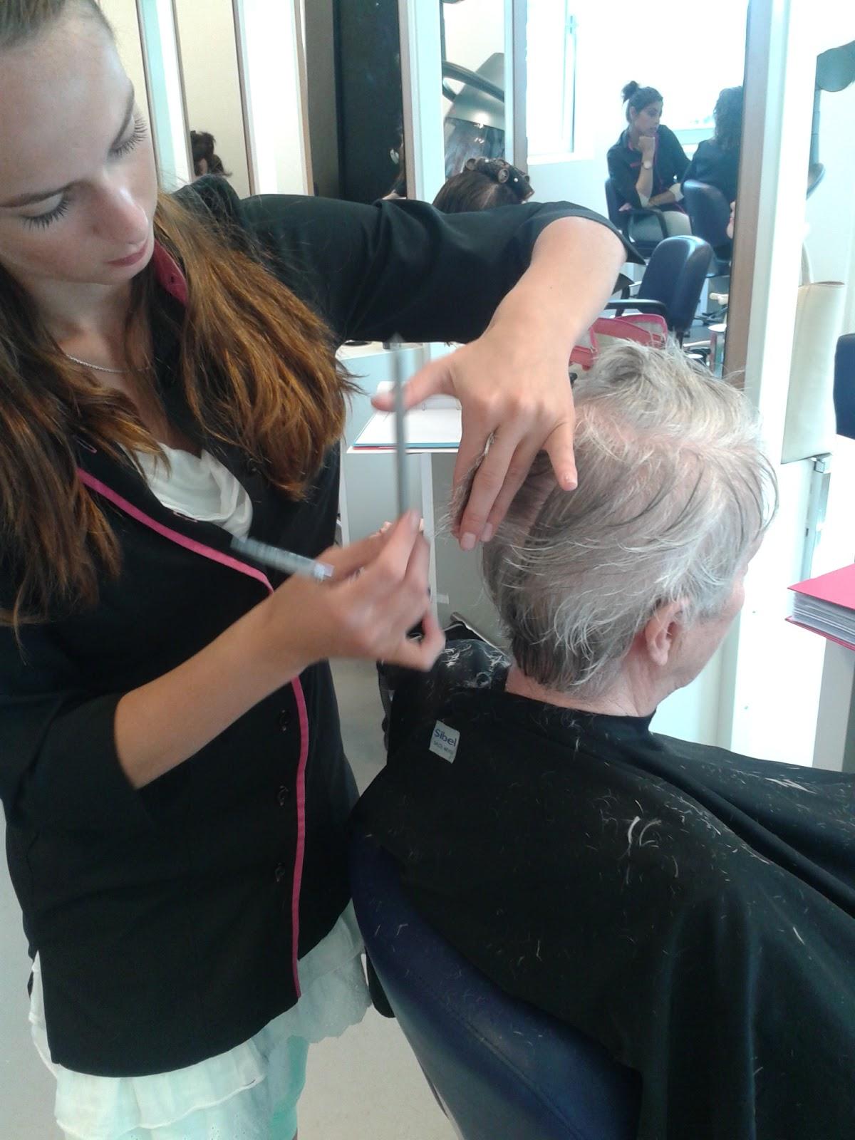 My life as a hairdresser model knippen en föhnen # Wasbak Haren_193205