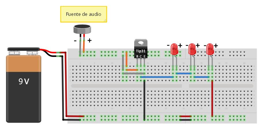 Circuito Luces Audioritmicas : EletrÔnica geral aplicações com leds