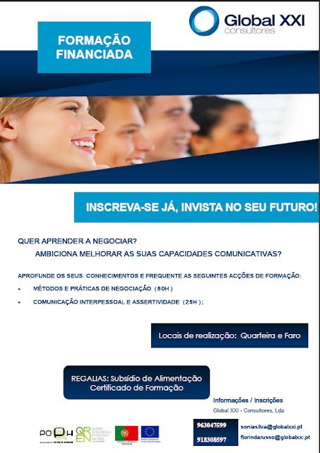 Formação financiada em Quarteira e Faro (com subsídio de alimentação e certificado)