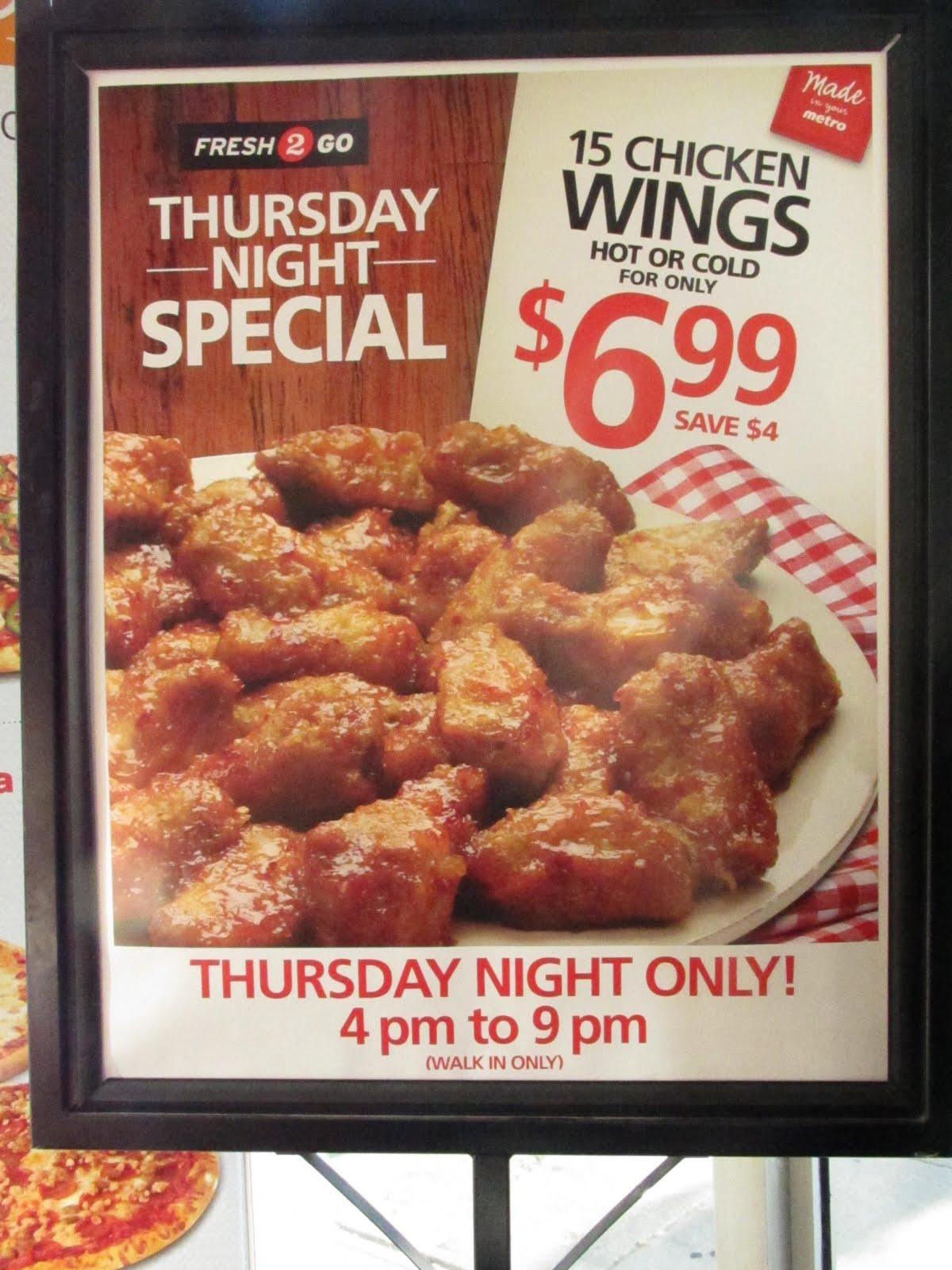 Wings deals calgary thursday