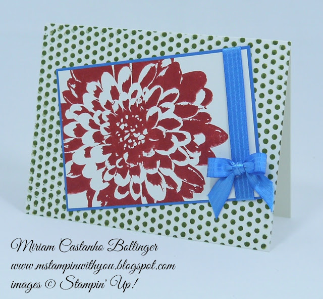 Miriam Castanho Bollinger, #mstampinwithyou, stampin up, demonstrator, dsc, all occasions card, dots for days, definitely dahlia, pacific point, su