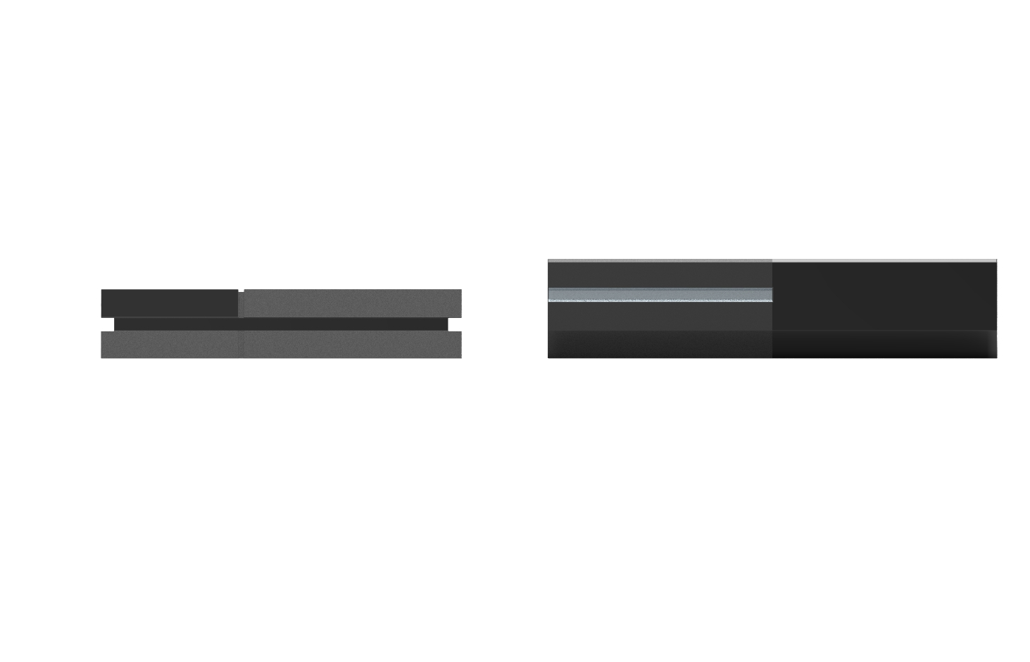 ps4 vs xbox one console size comparison ps4 is on the left click an    Xbox One Vs Ps4 Size