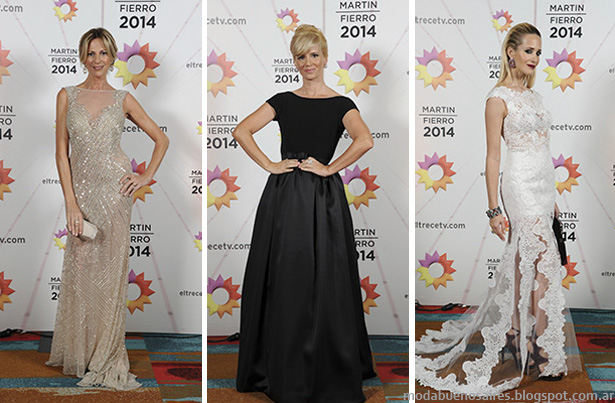 Vestidos de fiesta 2014 Looks Martin Fierro. moda Argentina otoño invierno 2014.