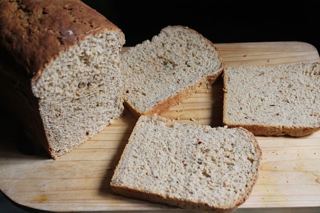 Garlic & Herb Sandwich Bread Recipe - Whole Wheat Garlic Bread Recipe