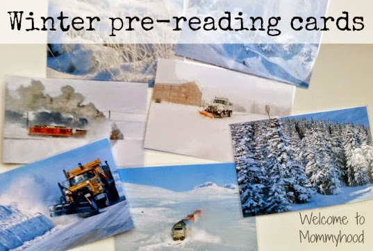 FREE PRINTABLES: Winter themed pre-reading cards {Welcome to Mommyhood} #montessori, #winteractivitiesforkids