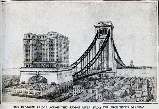 Puente colosal sobre el río Hudson