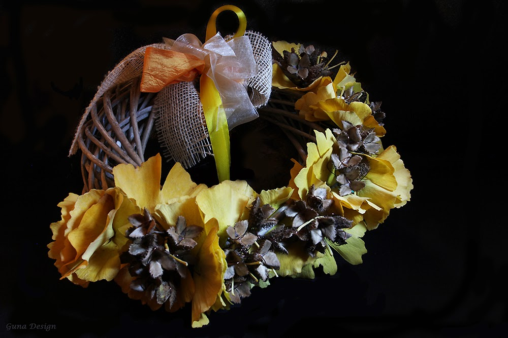 gunadesign guna andersone Autumn wreath