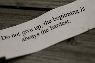 Dont give up at the beginning - Inspirational Positive Quotes with Images