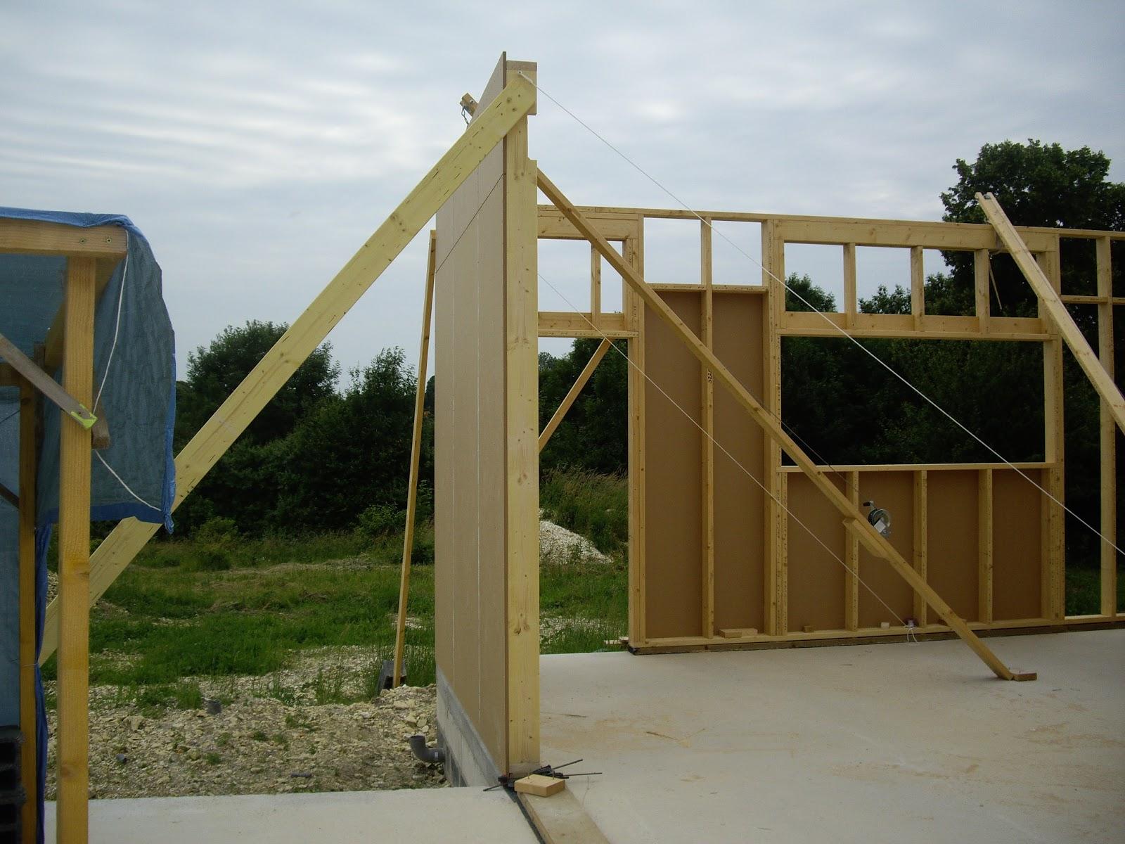Notre autoconstruction passive  Maison ossature bois (M  ~ Construction Mur Ossature Bois