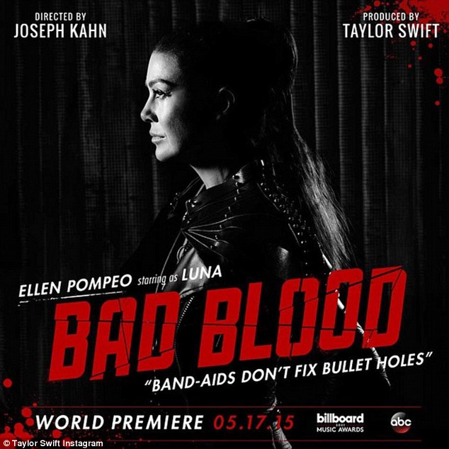Ellen Pompeo as 'Luna' for Bad Blood