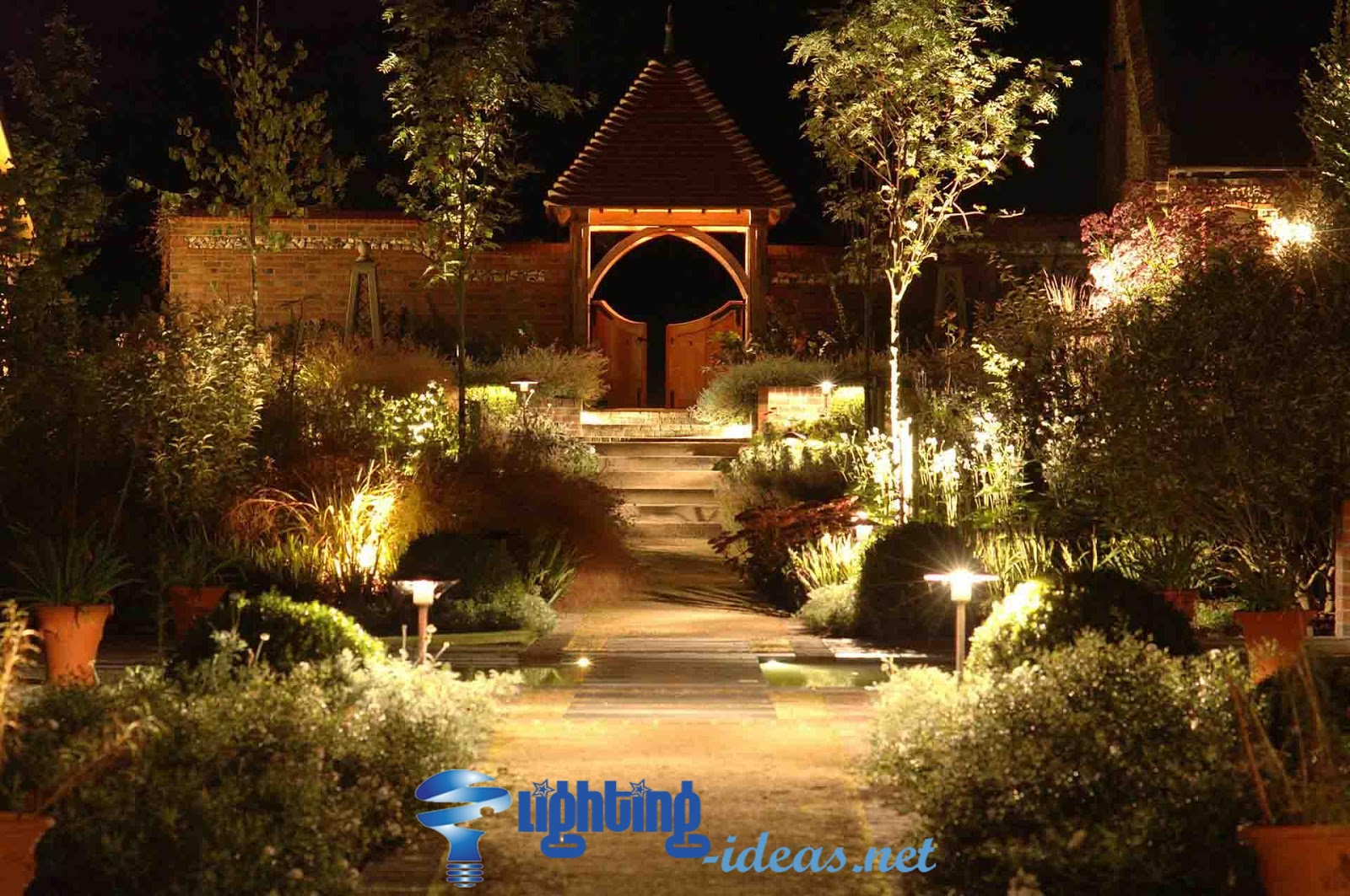 Garden Lights Great Garden With