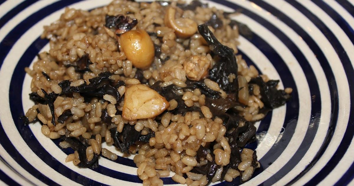 Suave como bizcocho risotto de setas y chipirones en su tinta for Como cocinar risotto de setas