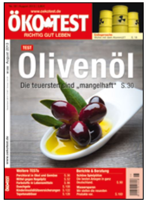 oko test消費性雜誌的認證標章在德國是權威性標誌