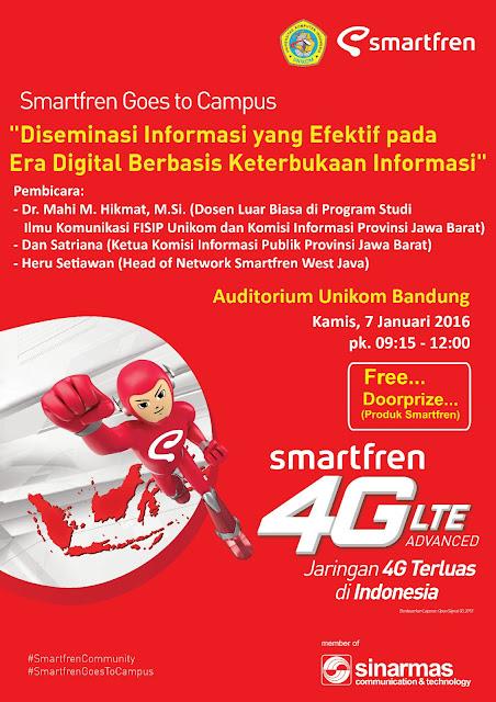 Event Smartfren Goes to Campus 2016 di Bandung ini menghadirkan 3 orang pembicara