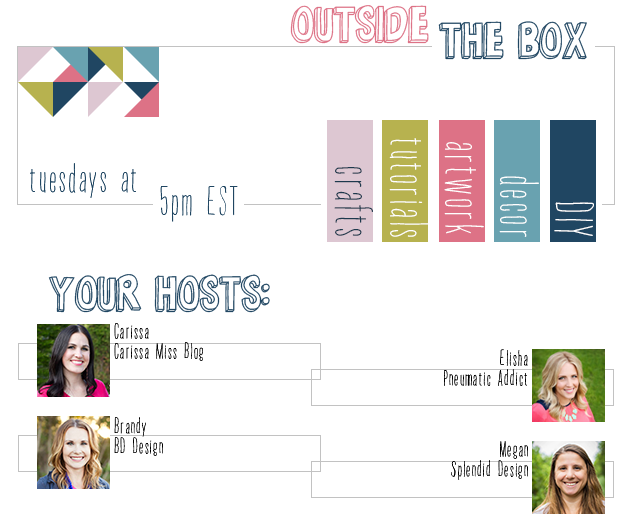 Outside [The Box] Link Party- come share your links at our weekly DIY, craft, and home decor party
