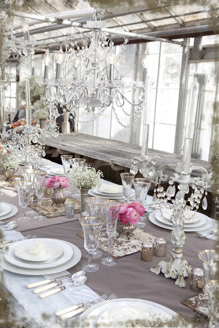 crystal chandelier wedding pink silver gold