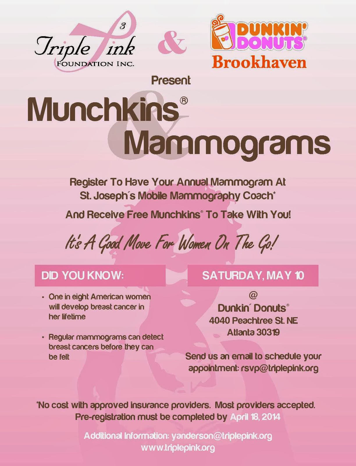 Munchkins & Mammograms flyer