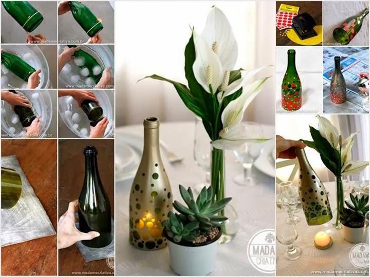 El mundo del reciclaje diy un portavelas reciclando una - Botellas con velas ...