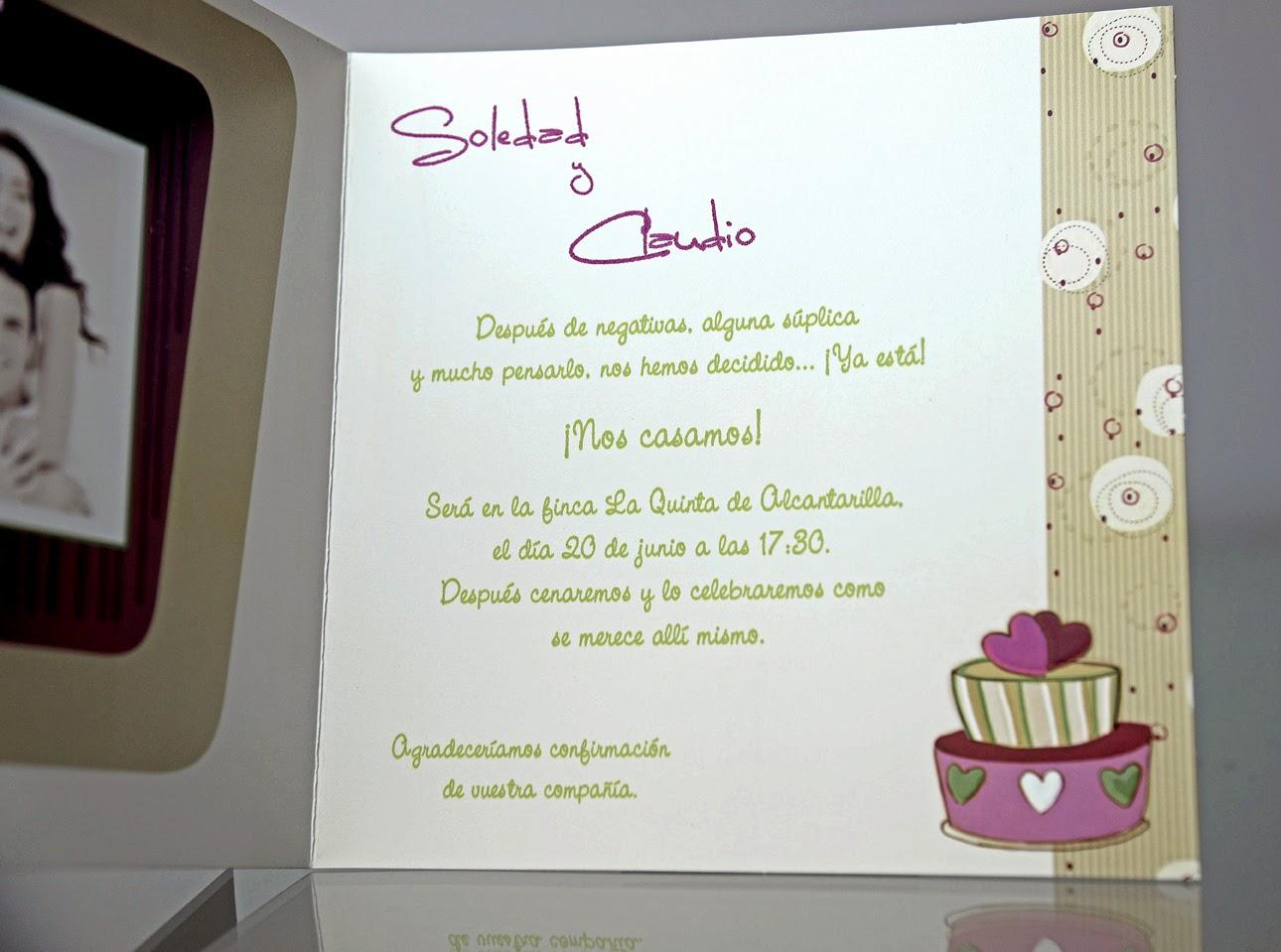 INVITACION DE BODA 34912 CARDNOVEL