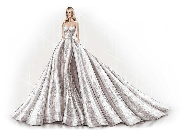 Vestido de novia Sofía Vergara de Zuhair Murad