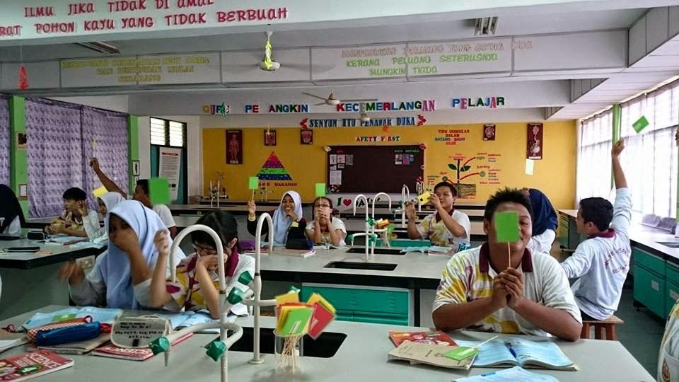 Ukur Kefahaman Pelajar dalam Kelas Guna Sistem Kad Trafik Light