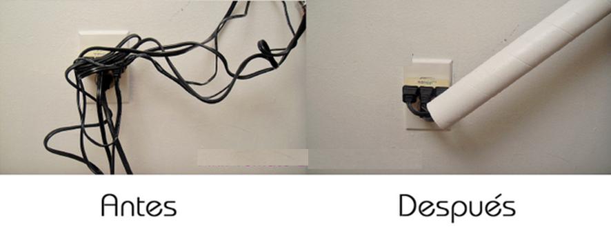 Como poder ocultar cables usando reciclaje manualidades - Como camuflar cables ...