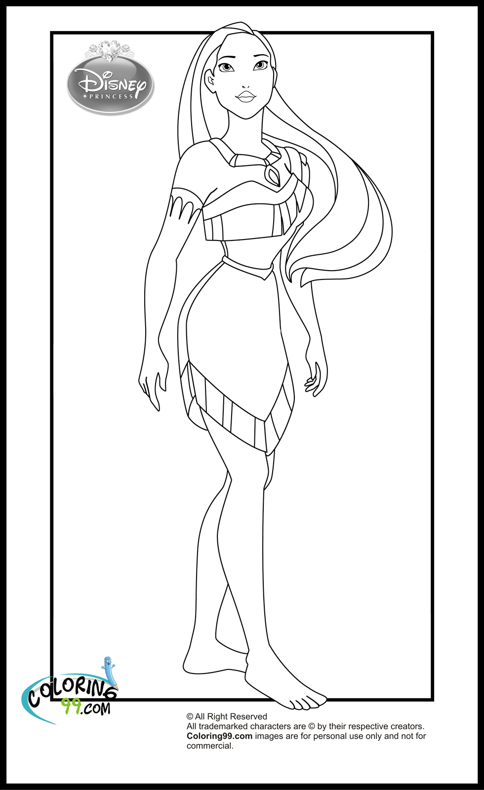 Princess Pocahontas Coloring Pages Coloring Pages
