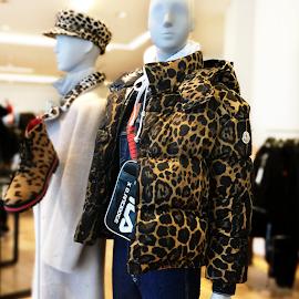 Moncler Leopard Print jacket.