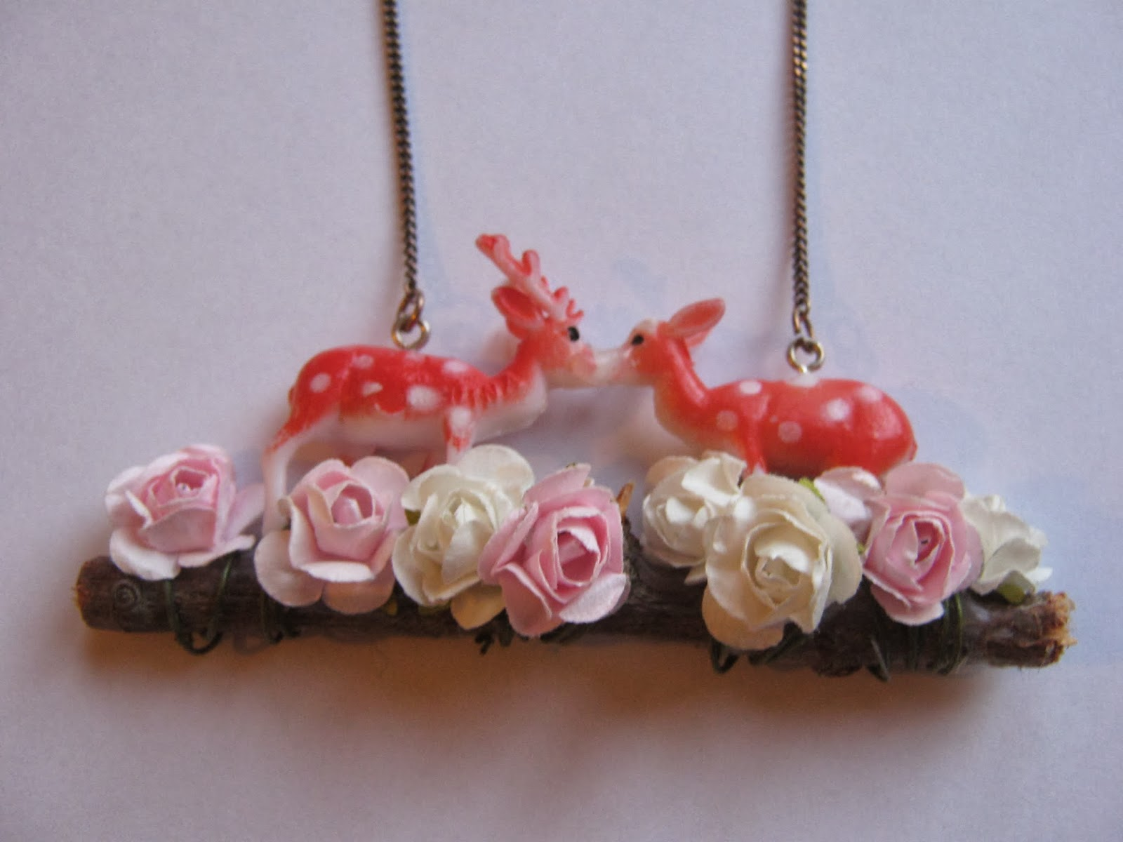 Kissing Reindeer Necklace
