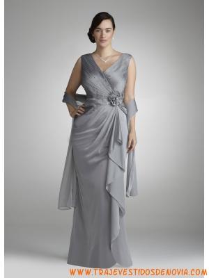 Vestidos de fiestas color plata